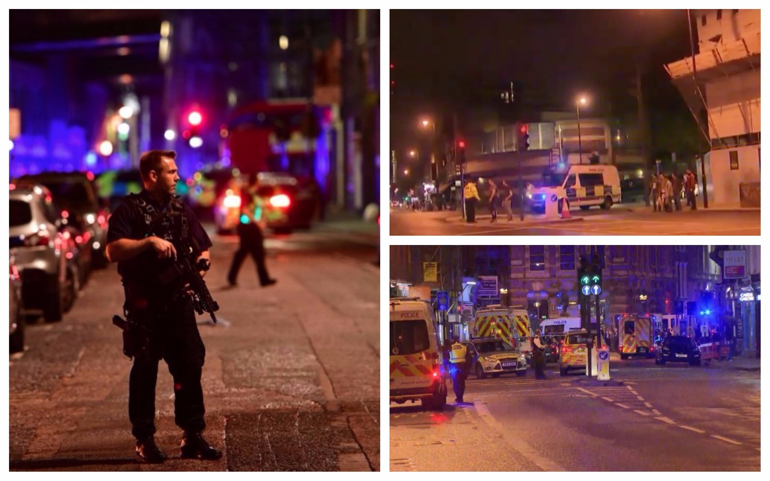 Emergency services at the scene in London
