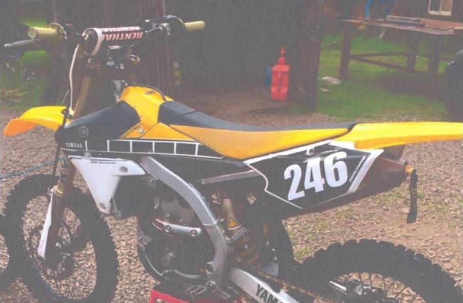 A Yamaha off-road motorbike has been taken from a Mosstodloch home.