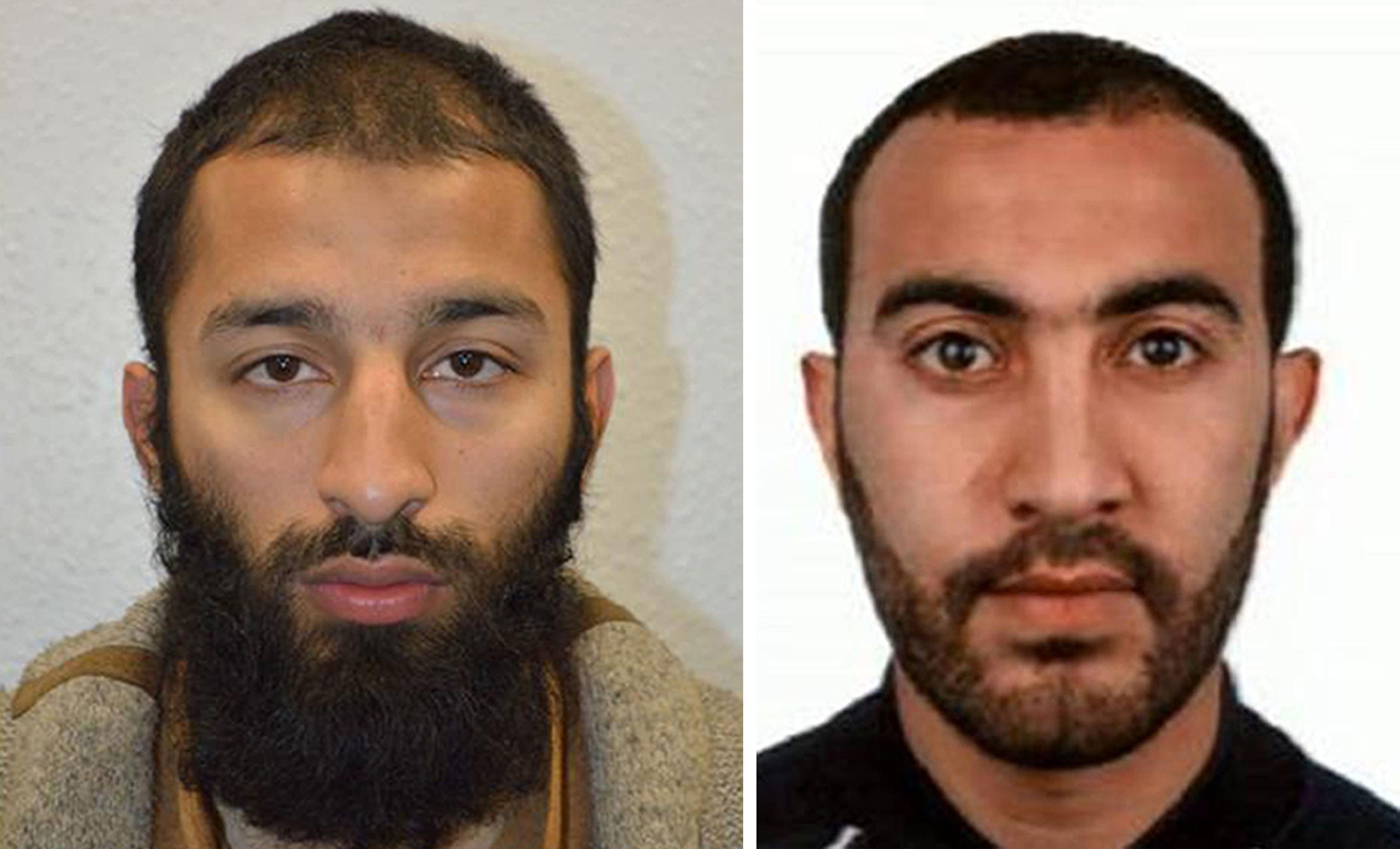 Khuram Shazad Butt (left) and  Rachid Redouane  who has been named as two of the men shot dead by police following the terrorist attack on London Bridge and Borough Market.