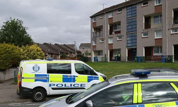 Police on the scene in Inverness