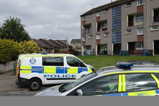 Police in the Hilton area of Inverness following the baby's death