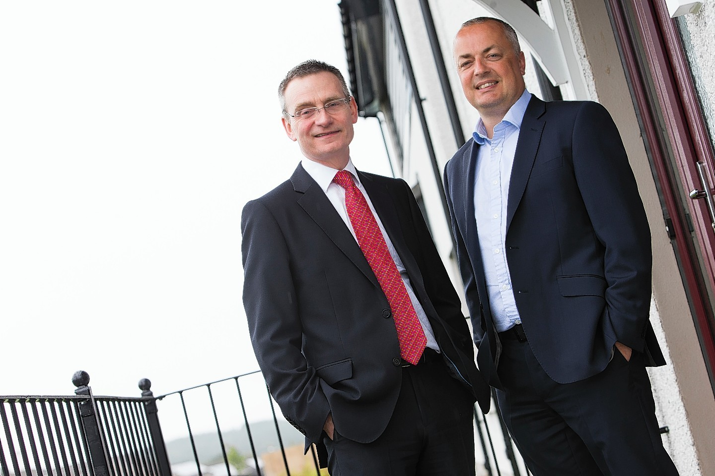 John Irvine, left, and Allan Clow