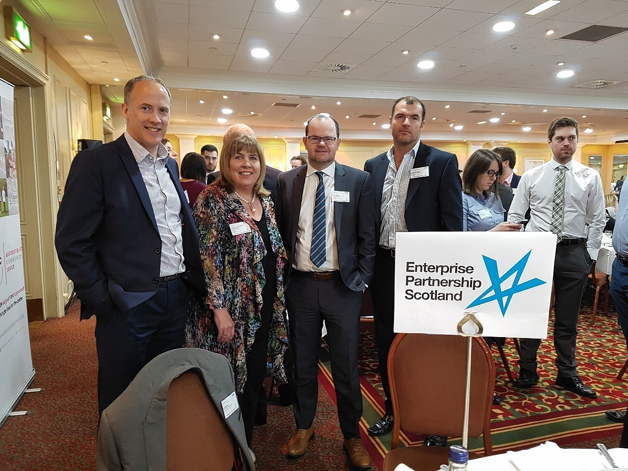 L - R: Stephen Hepburn (Head of Customer Banking, Aberdeen); Carolyn Maniukiewicz (Director, Ideas In Partnership); Brian Moran (Audit Partner); Steve Redhead (Managing Director, Mother Technologies)