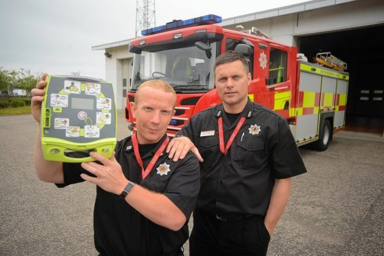 Moray fire services have been trained in dealing with cardiac arrest with a defibrillator.