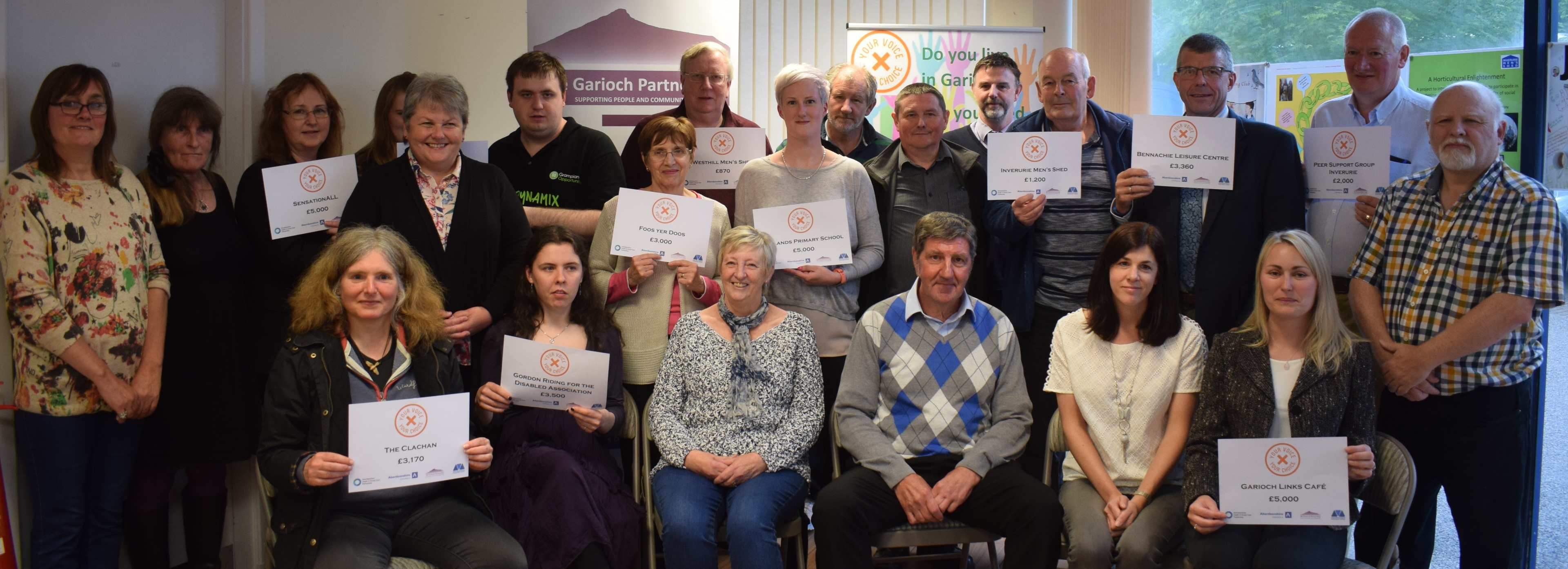 Members of the groups who received awards from the Your Voice Your Choice fund.