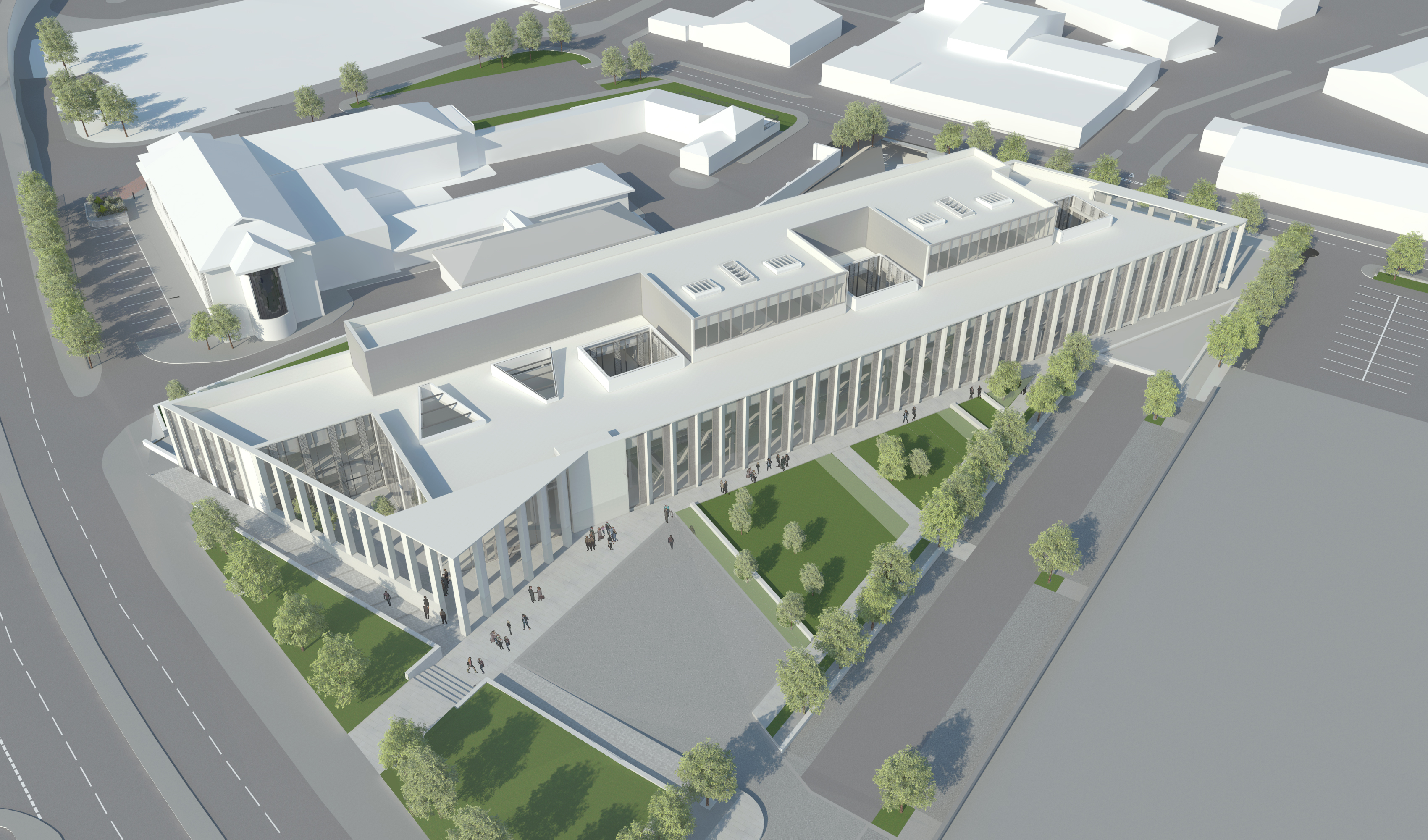 A birds eye view of the new Inverness Justice Centre