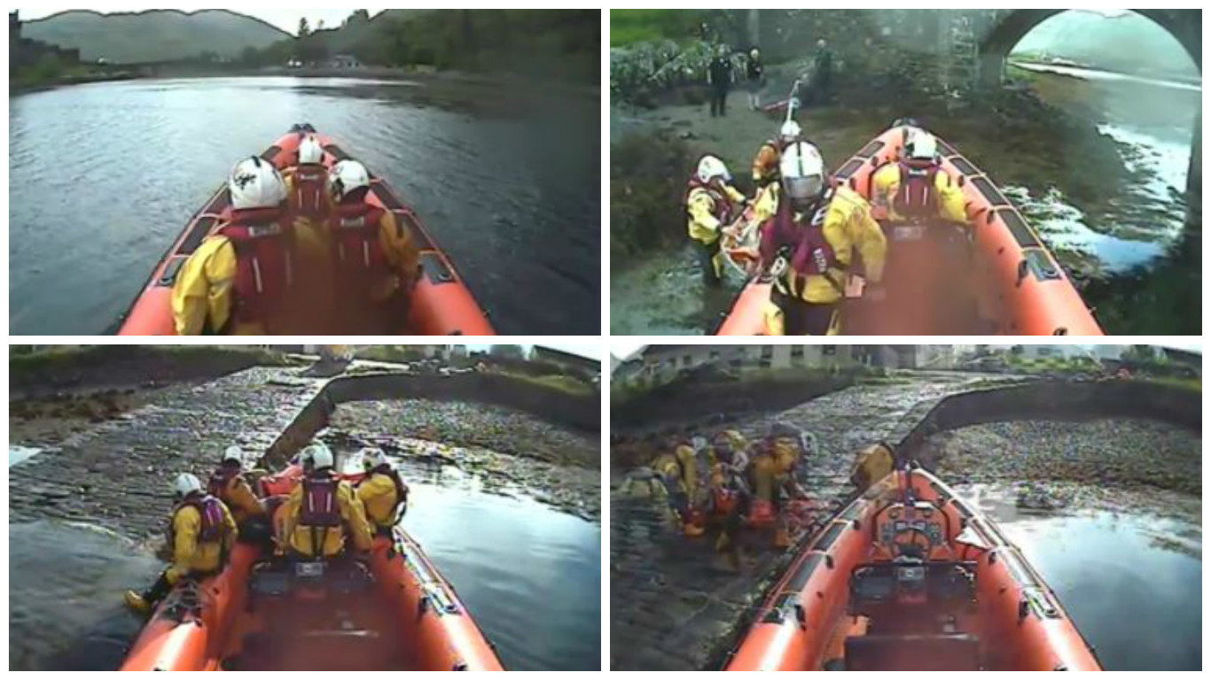 The lifeboat crew were called to assist paramedics