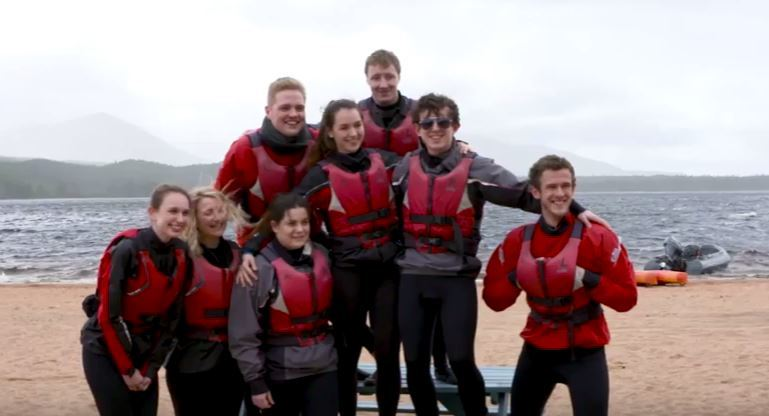 University of Aberdeen medical students were taken to Cairngorms National Park.