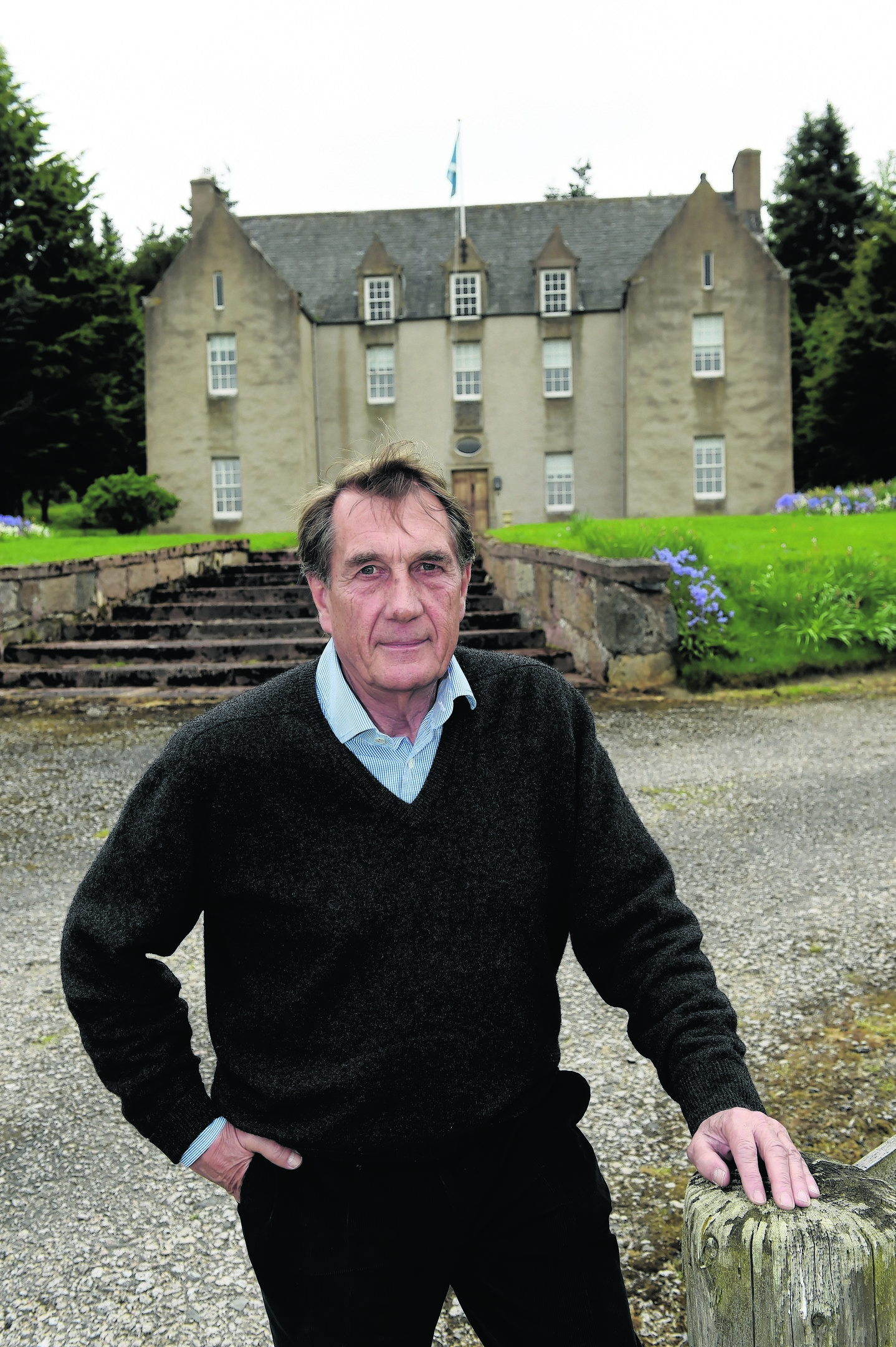 William Gallacher at his renovated 18th century home. Picture by Kenny Elrick.