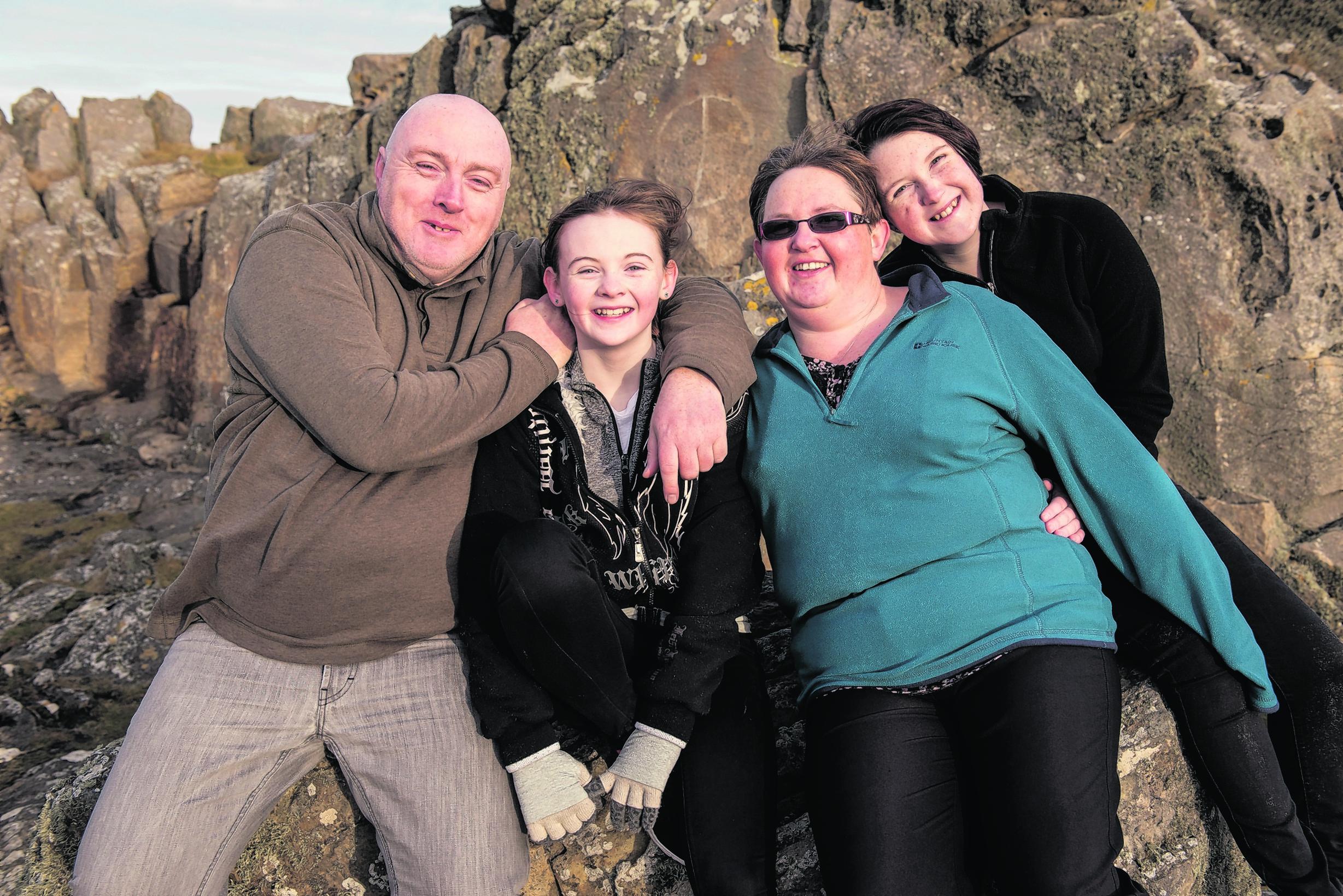 Dad Alex, Laura, Mum Sandie and sister Ally