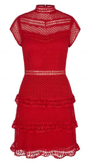 Y.A.S Alberte Red Lace Dress, £100, Littlewoods (www.littlewoods.com)