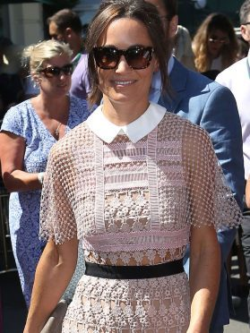 Pippa Middleton on day three of the Wimbledon Championships at the All England Lawn Tennis and Croquet Club, Wimbledon.
