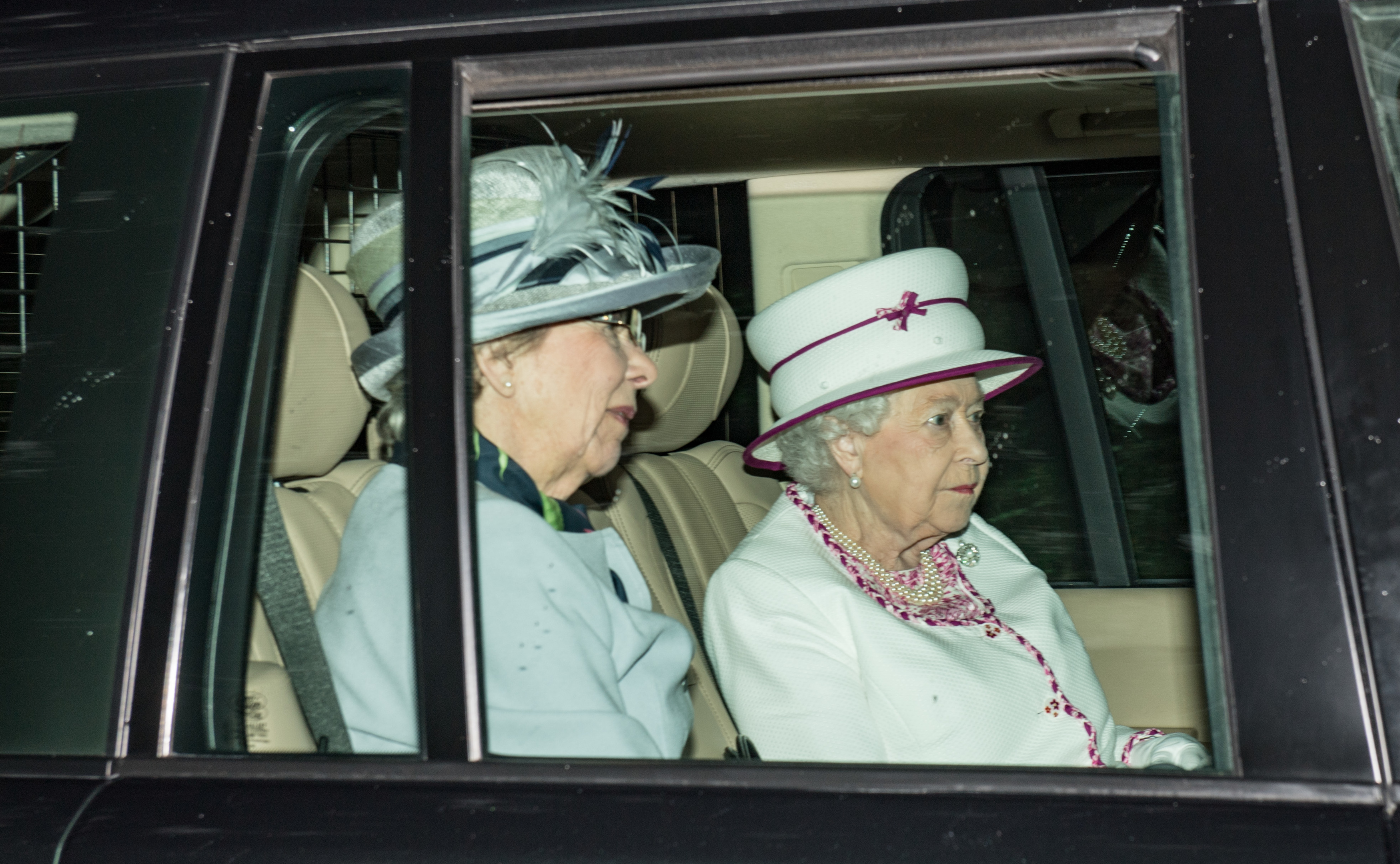 Ballater, Scotland, Friday 21st July 2017   Pictures is The Queen arriving at Crathie Kirk on the first Sunday of her Summer break at Balmoral Castle.  Picture by Michal Wachucik / Abermedia