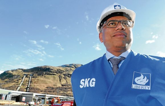 Sanjeev Gupta, executive chairman of the GFG Alliance photographed at the Fort William Aluminium Smelter.