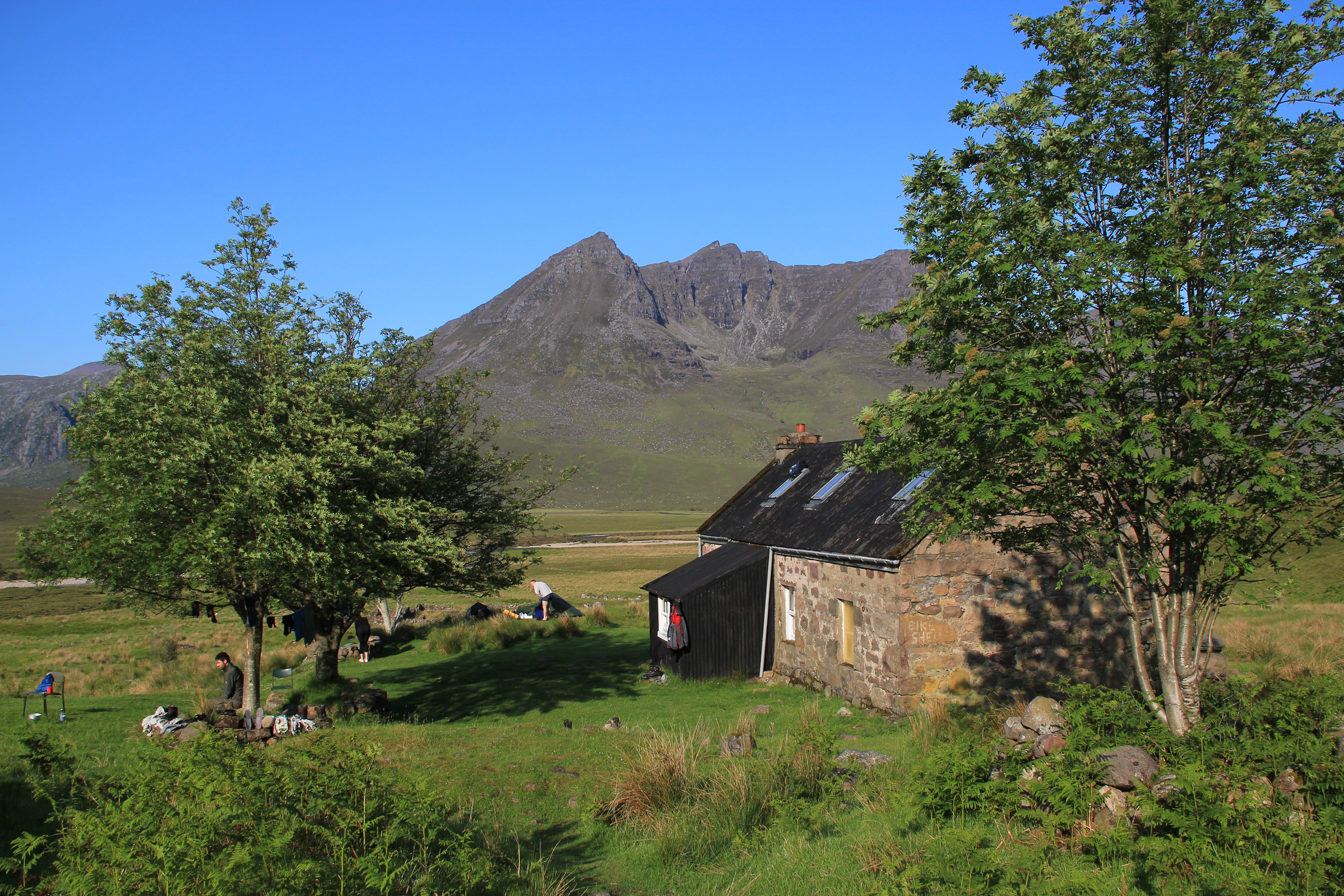 The team then assisted in the collection of the couple's camping gear from Shenavall bothy. (pictured)