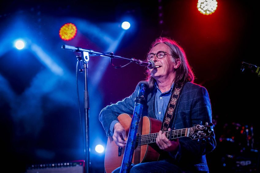 Dougie MacLean during his set at the 8th year of the Tiree Music Festival 2017