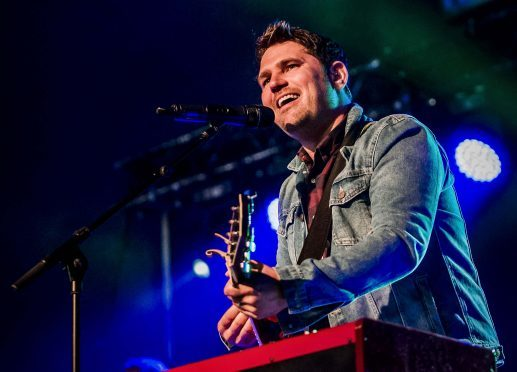 Scouting for Girls playing the main stage at the 8th year of the Tiree Music Festival 2017   Photographs by Alan Peebles