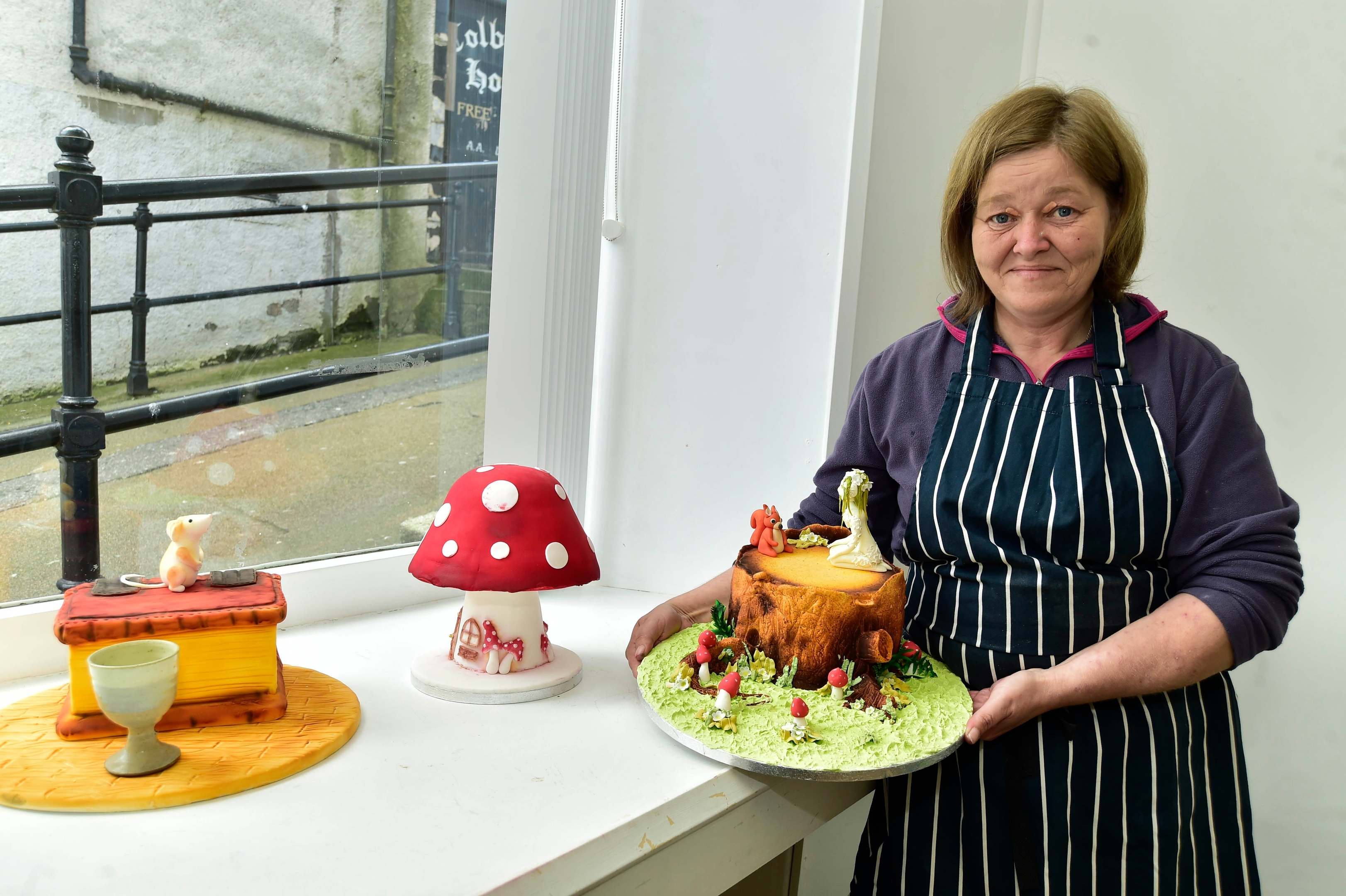Angela Wiseman with some of her cakes
