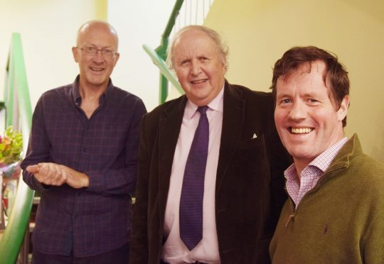 Owners Kevin Ramage (left) and Angus MacDonald with author Alexander MacCall Smith who performed the official opening ceremony. PICTURE IAIN FERGUSON, THE WRITE IMAGE