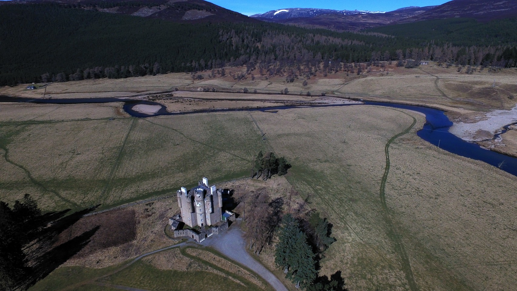 Braemar Castle from the skies. Pics and video by Kenny Elrick