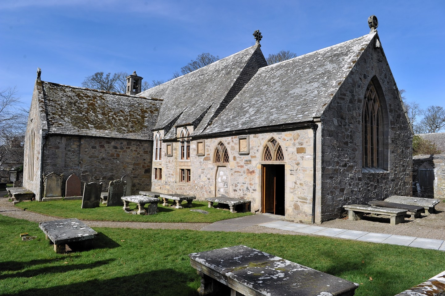Cullen Old Kirk which needs to raise £500.00 for restoration work.  Picture by Gordon Lennox 26/03/2017