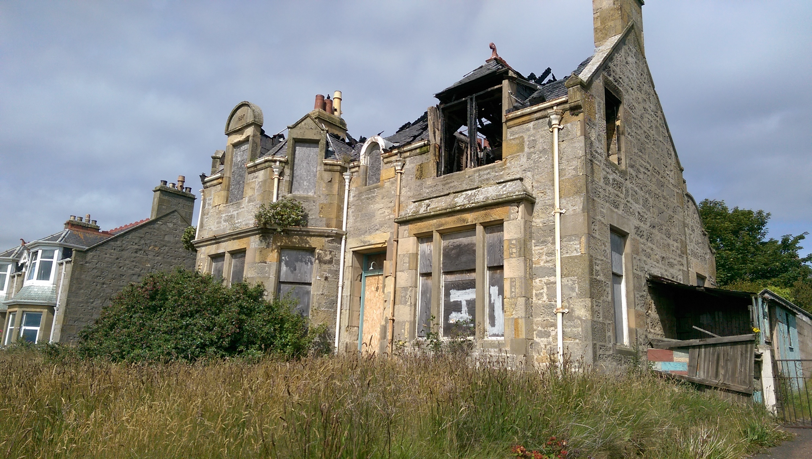 Brae Lossie, on Lossiemouth's Prospect Terrace, was almost ruined by a fire in 2015.
