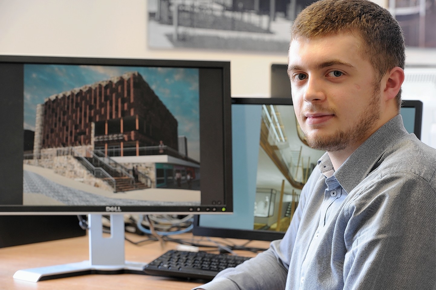 Young architect Jacob Simpson has unveiled his own take on improving the  Inverness cityscape.