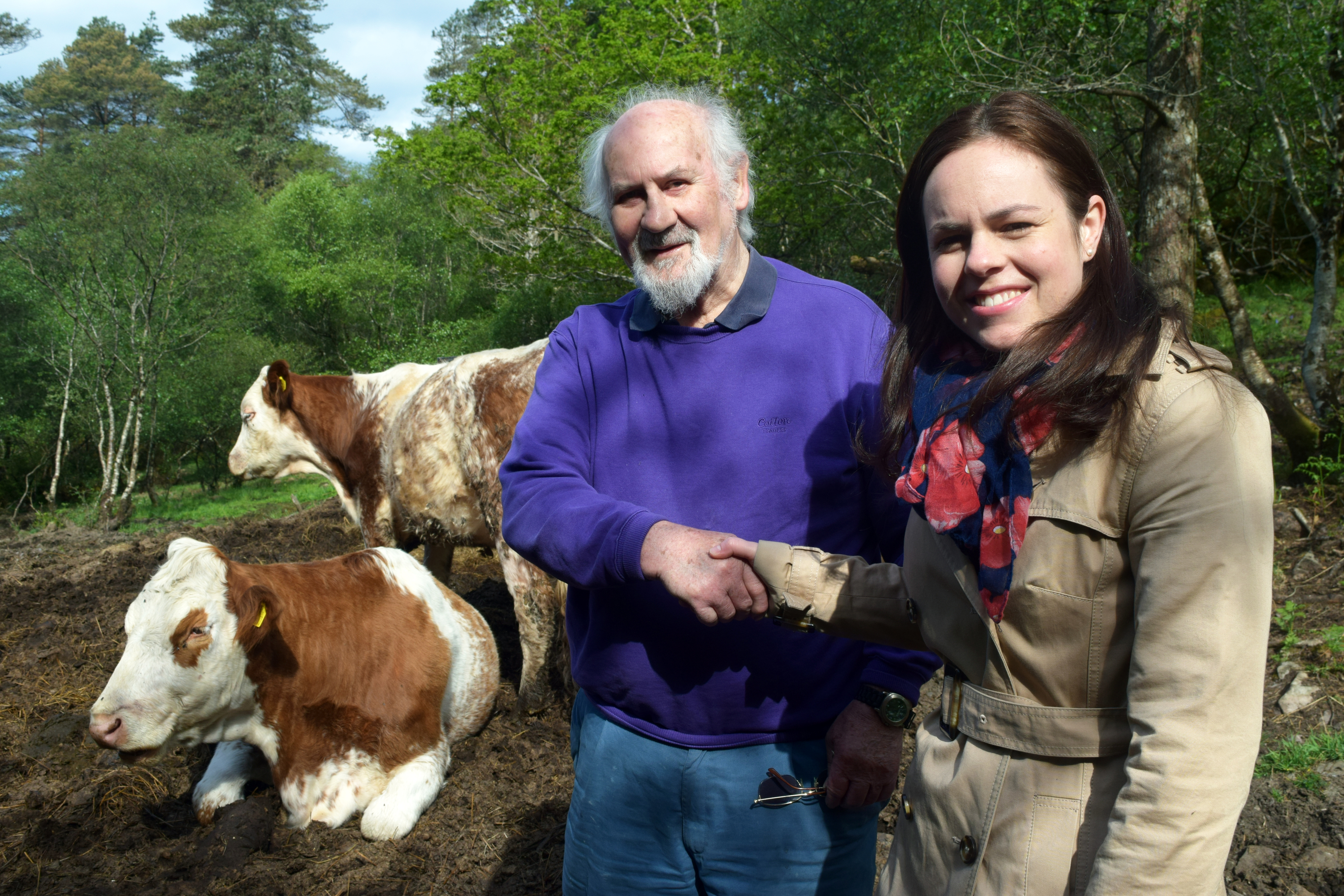 Farmer Duncan MacLennan with MSP Kate Forbes