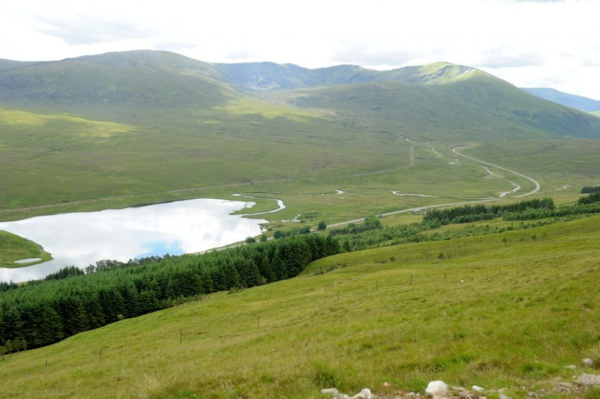 The hills of South Ledgowan.