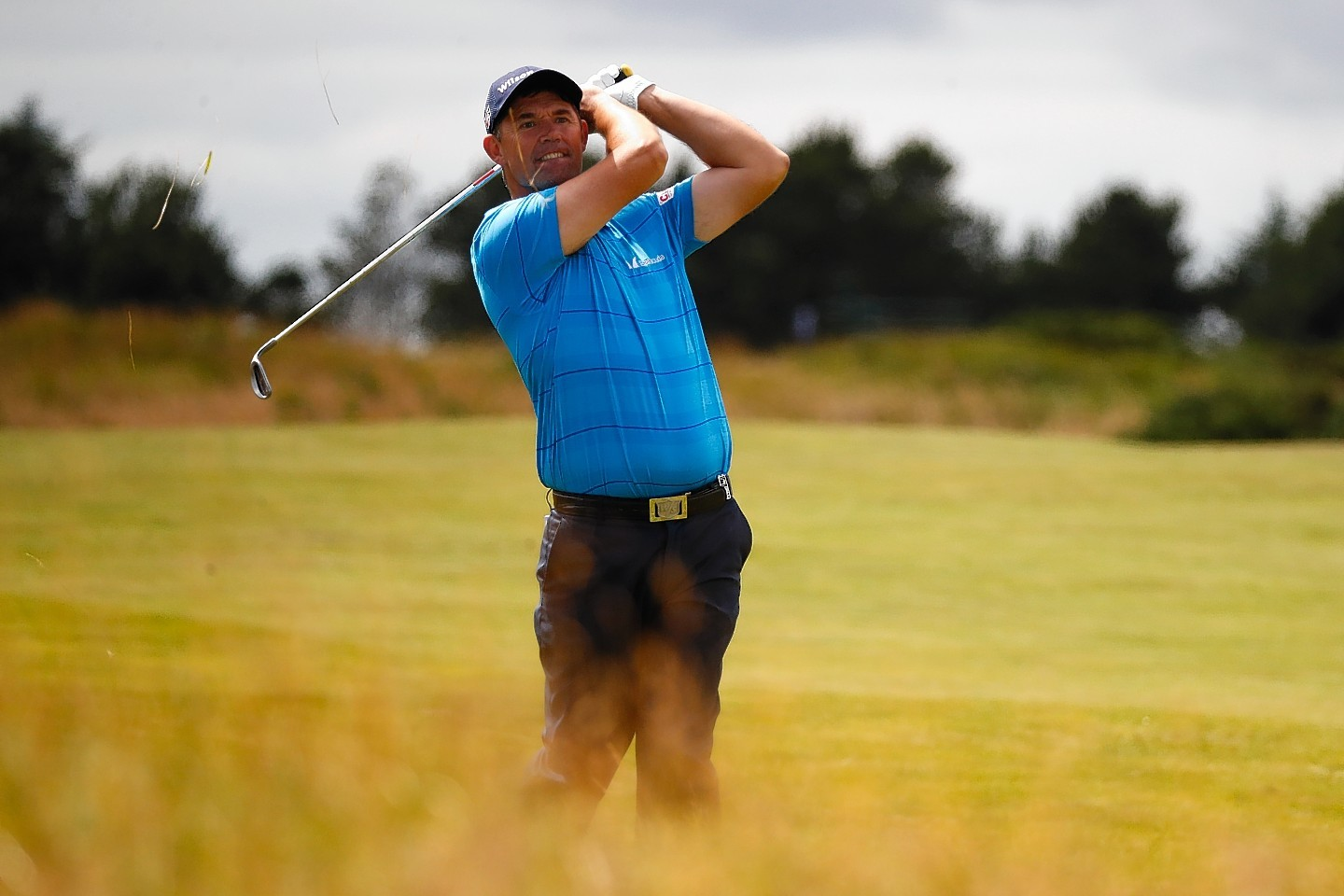 Padraig Harrington is joint leader of the Scottish Open after two rounds.