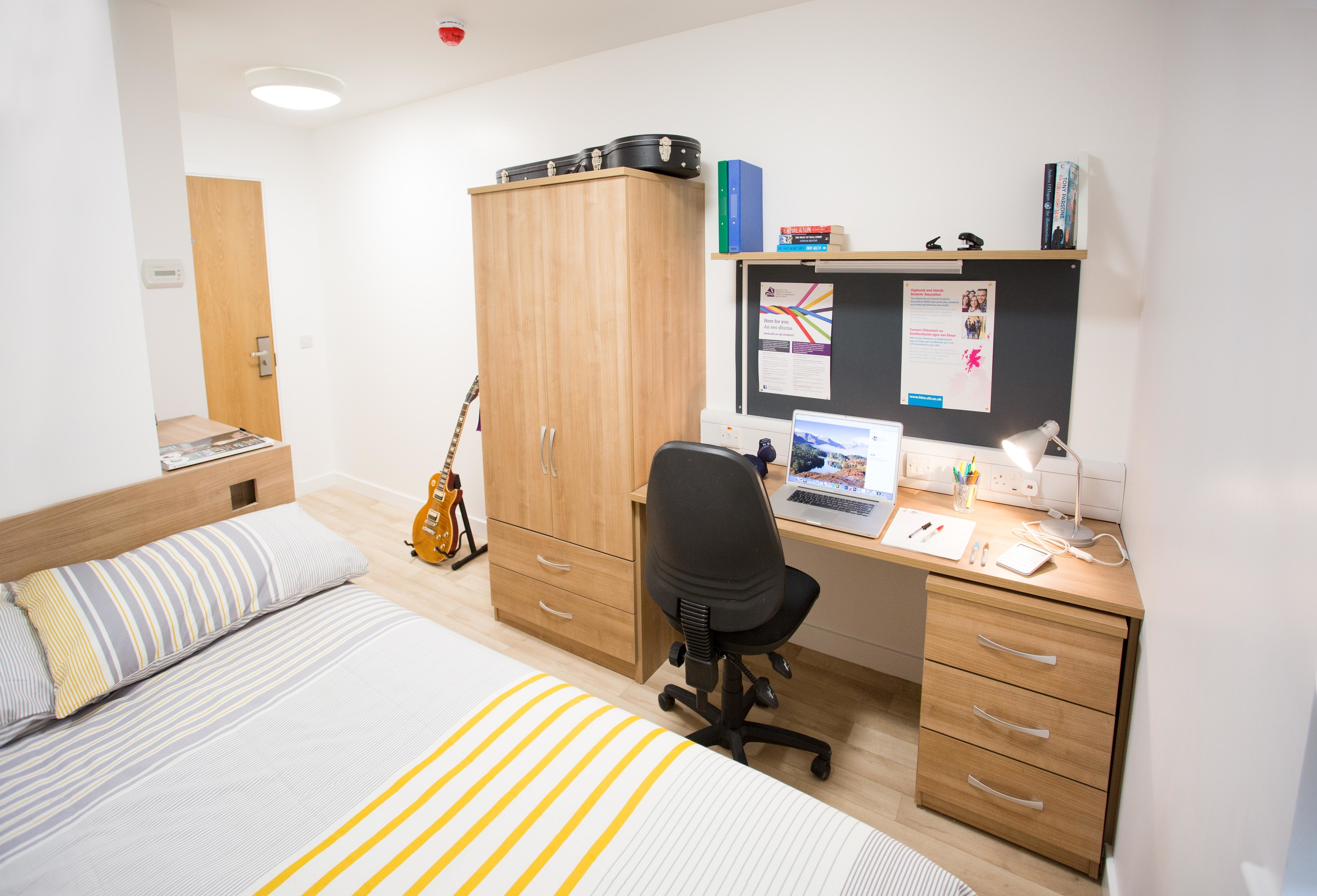 Show flat at UHI campus, owned and managed by CityHeart Living Scotland