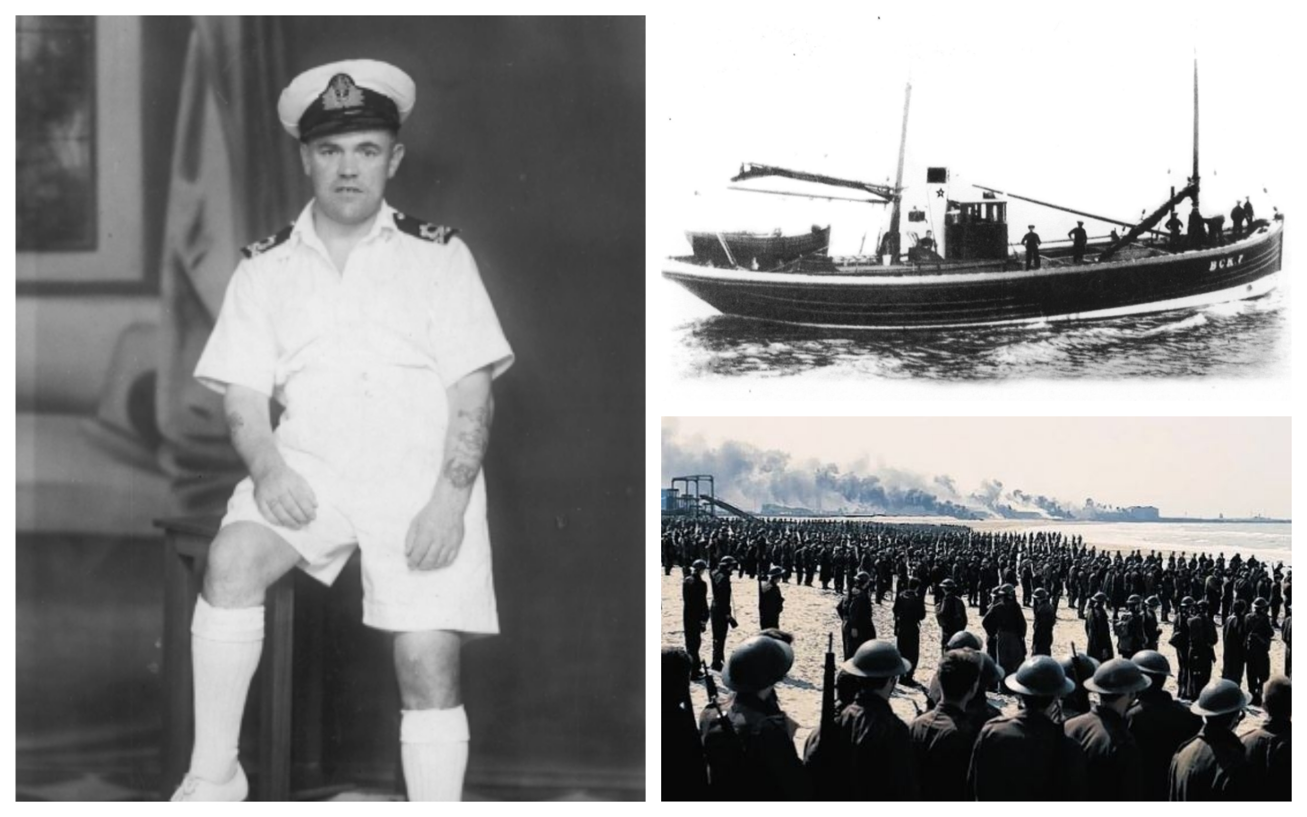 Skipper Rory McLean (left), the Nautilus (top right) and a scene from the new Christopher Nolan film