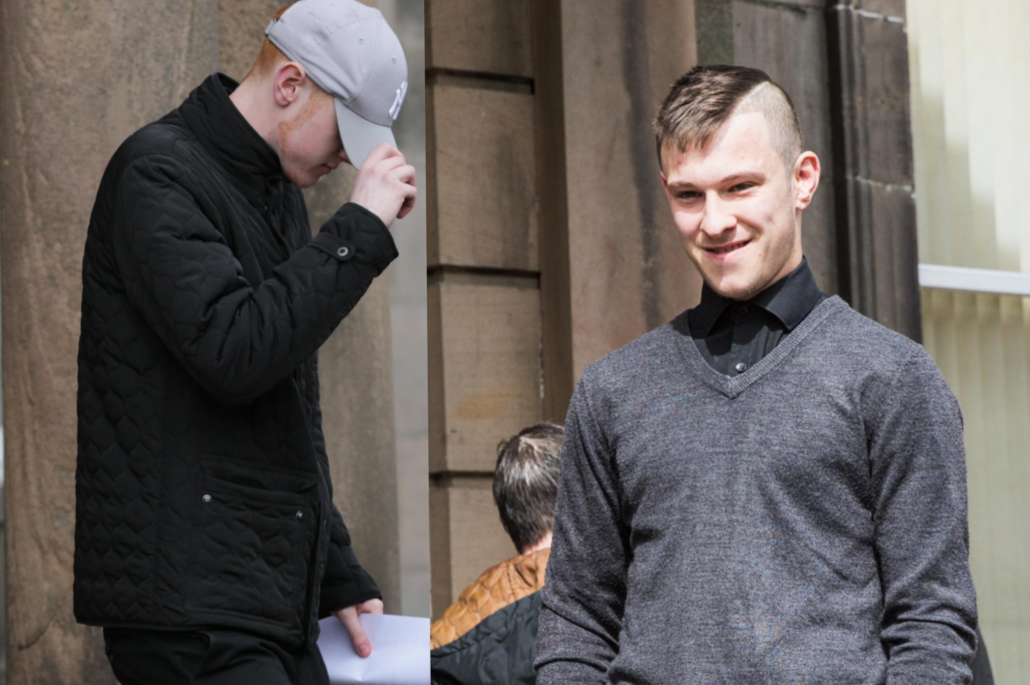Daniel Innes, left, and Jordan McIsaac have been locked up.