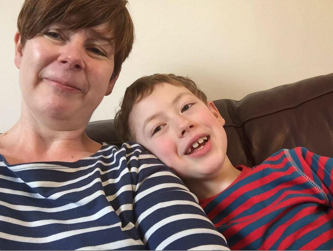 Sharon Gardner with son Fraser.