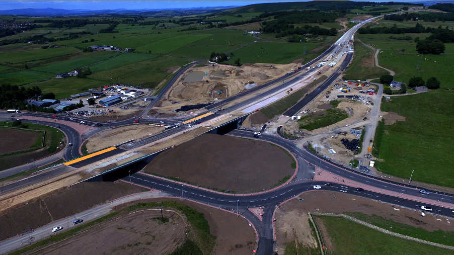 Construction continues on the AWPR. (Picture by Kenny Elrick)