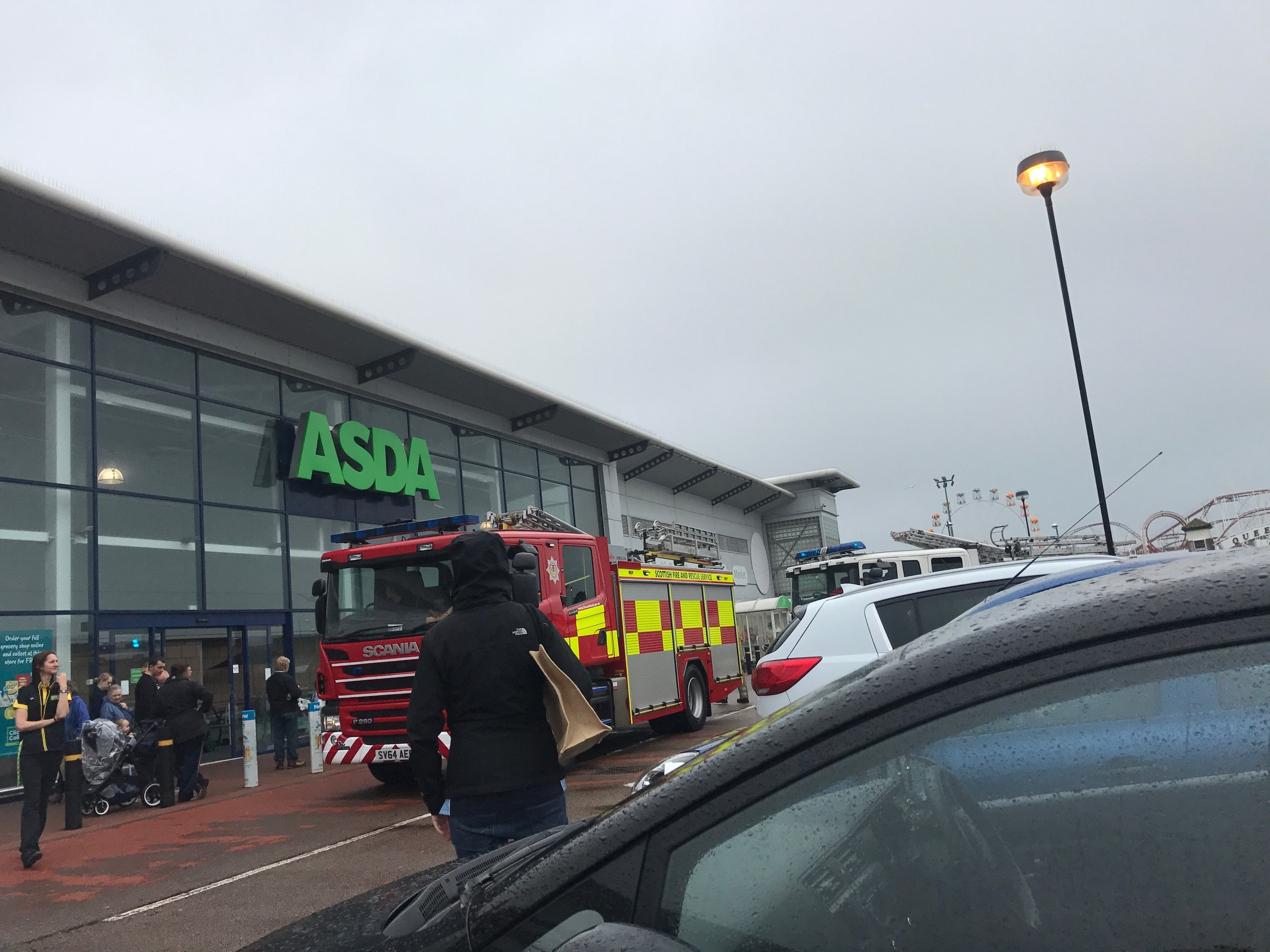 Asda at the Beach Retail Park in Aberdeen has been evacuated following a fire alarm.