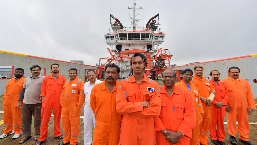 The crew have been stranded for more than a year.