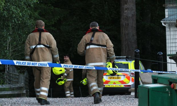 A major search and rescue operation was launched at Falls of Bruar (courtesy thecourier.co.uk)