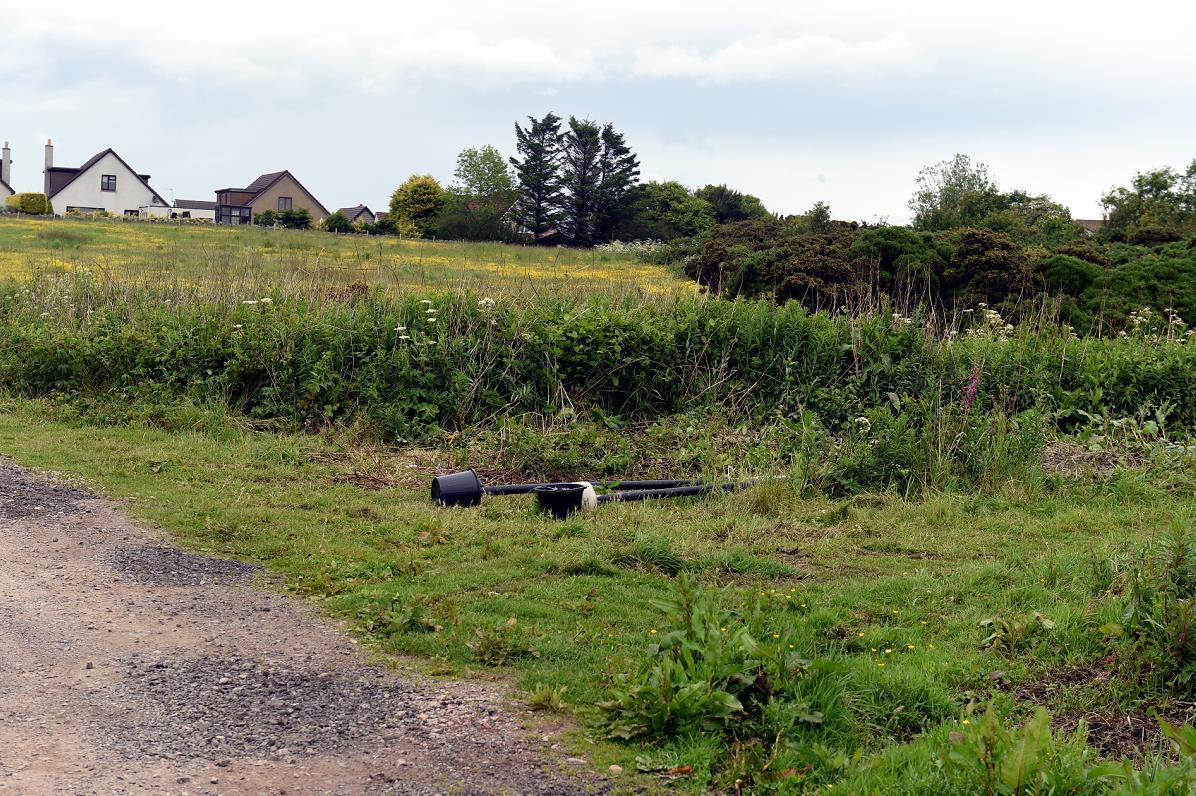 The site where the houses could be built. (Picture: Jim Irvine)