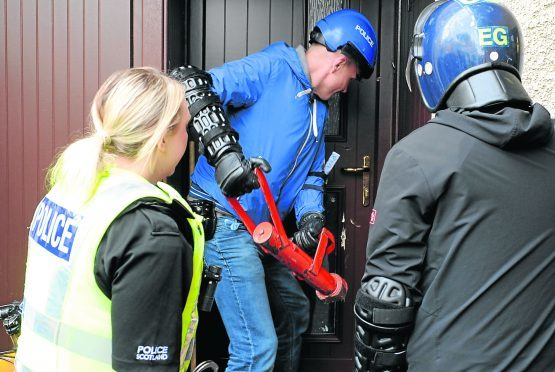 Police charged 16 people in the Moray drug raids