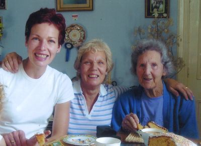 Elza McCartney, Dale Main and Elsie Dyker who has turned 100