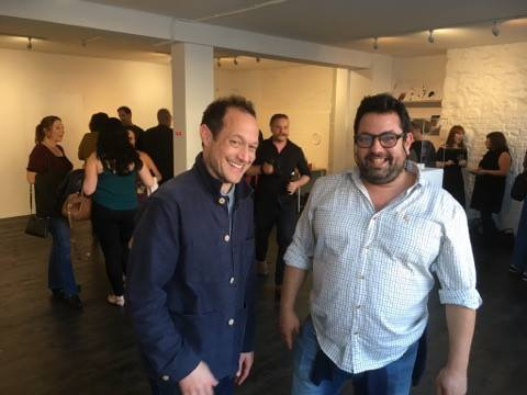 Raydale Dower and Nuno Sacramento at the launch of the W OR M contemporary arts venue on Castle Street