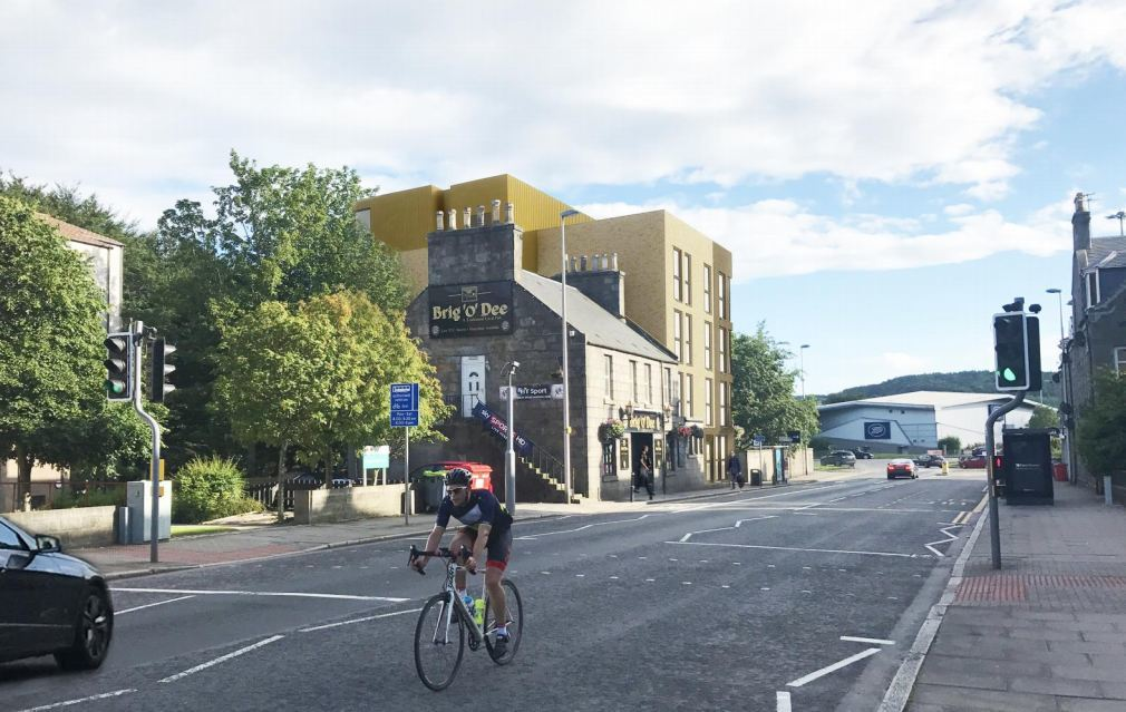 A design shows how the student complex beside the Brig o' Dee Bar could look