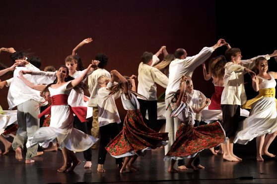 """Aberdeen Internation Youth Festival performance at His Majesty's Theatre. """"Dance Studio Light"""" from the Czech Republic."""