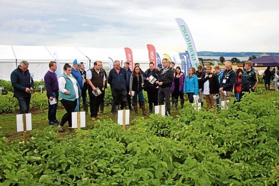 Farmers at last year's event.