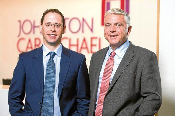 Richard Bathgate (l) and head of restructuring Matt Henderson at Johnston Carmichael in Aberdeen