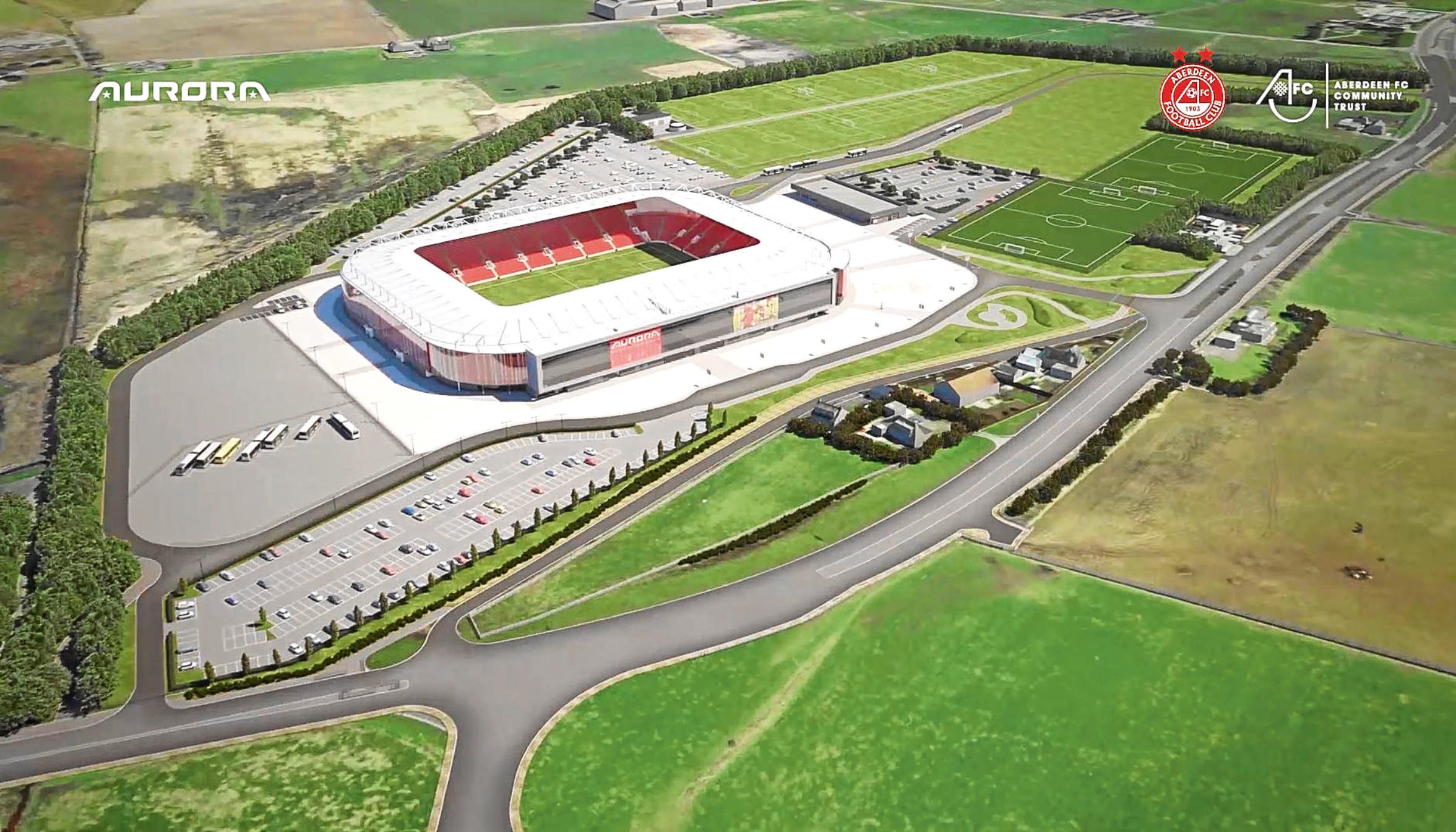 The proposed new Dons stadium at Kingsford