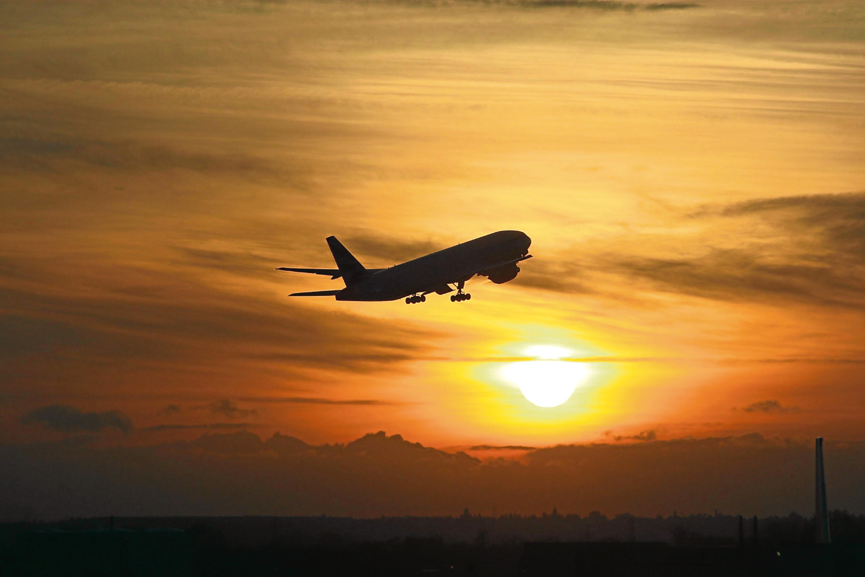 Winter sun at Heathrow Airport