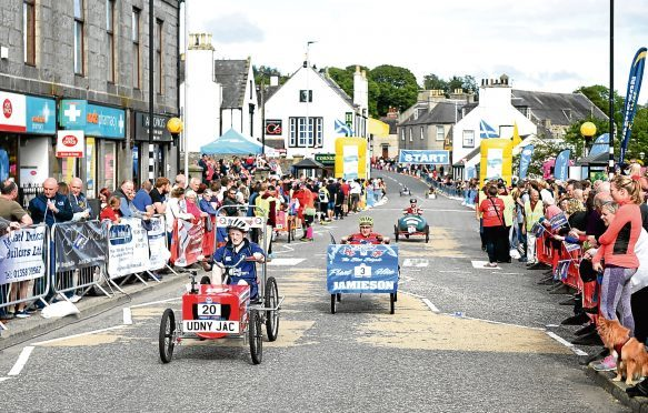 Fun in Focus Pictured is the Ellon Pedal Car Race, Ellon. Picture by DARRELL BENNS     Pictured on 20/08/2017