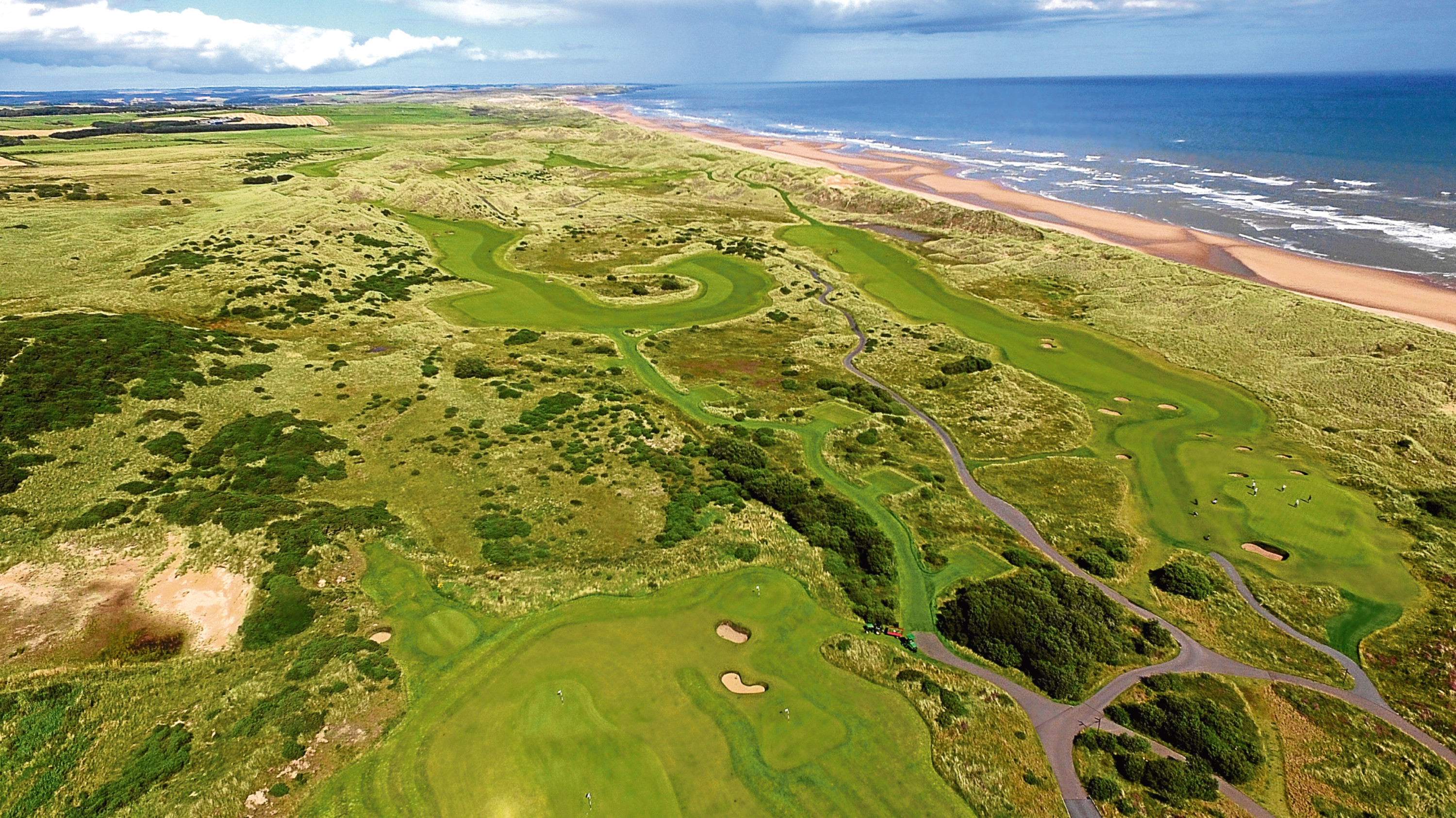 Locator of Trump International Golf Links, Balmedie. Aerial Image - Drone / Phantom 3 advanced.  Picture by KENNY ELRICK     15/08/2017